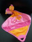 23- DOUDOU PLAT BABYSUN baby sun TORTUE orange rose DENTITION HOCHET - TTBE