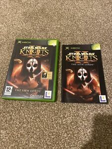 XBOX Star Wars Knights of the Old Republic II 2 Cover Case And Manual NO DISC