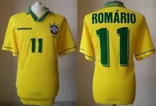 MAGLIA BRASILE UMBRO 11 ROMARIO CALCIO CAMISA BRAZIL WC USA 1994 SHIRT JERSEY