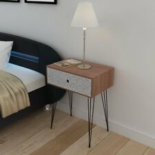 Rectangular Bedside Cabinet With 1 Drawer - Brown