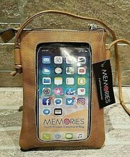 Women's Touch Screen Cell Phone Bag View Window Camel with Strap Nwt Boutique