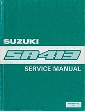 1986 SUZUKI JIMNY SA413 WERKSTATTHANDBUCH SERVICE MANUAL ENGLISCH