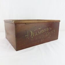 Antique Diamond Dye Wood Store Advertising Display Cabinet w/ Drawer Great Cond!