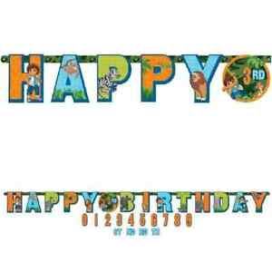 Diego's Biggest Rescue Go Diego Nick Jr Birthday Party Decoration Letter Banner
