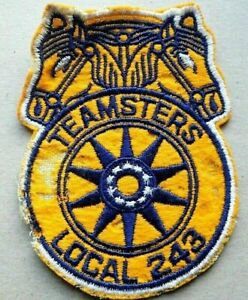 Vintage TEAMSTERS LOCAL 243 Patch