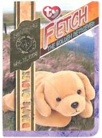 TY Beanie Babies BBOC Card - Series 4 Retired (GOLD) -FETCH the Golden Retreiver