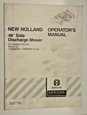 "New Holland Operator's Manual for 48"" side discharge mower 86602572 (2-00) Box3"