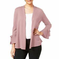 ALFANI NEW Women's Tie-sleeve Open Front Cardigan Sweater Top TEDO
