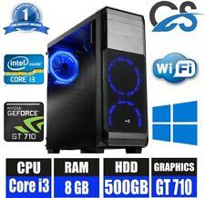 Rapide Jeu Ordinateur Bureau PC Intel i3 Windows 10 8GB 500GB 2GB Nvidia GT710