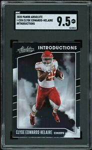 2020 Panini Absolute Introductions Clyde Edwards-Helaire RC SGC 9.5 ~COMP PSA