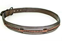 Genuine Leather Barbed Wire Design Size 36 Mens Brown Belt Trucker Biker Cowboy