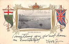 THE BORE MONCTON NEW BRUNSWICK CANADA PATRIOTIC POSTCARD 1905