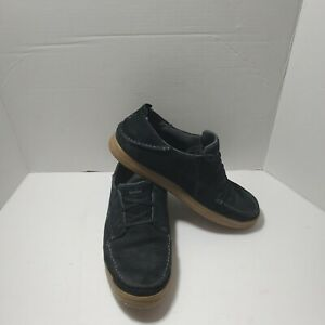 Olukai Pahono Lace Up Men's Shoes, Size 11, Black Leather/Suede, Preowned