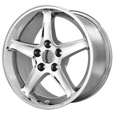 "4-NEW Replica 102C Mustang Cobra R 17x9 5x114.3/5x4.5"" +18mm Chrome Wheels Rims"