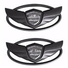 2x Black Wing Front Rear Trunk Emblem Badge Sticker For Hyundai Genesis Coupe