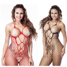 Sexy Breast Body Lingerie Bodystocking Fetish Open Cups Topless Fishnet Bodysuit