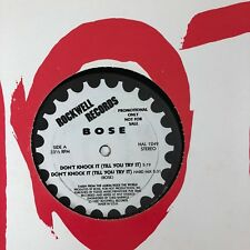 """BOSE Don't Knock It (Till You Try It) 12"""" VG+ PROMO 5-track MIAMI BASS Rockwell"""