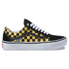"""Vans """"Checker Old Skool Pro"""" Sneakers (BK/Aspen Gold) Men's Canvas Skate Shoes"""