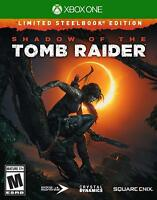SHADOW OF THE TOMB RAIDER STEELBOOK EDITION XBOX ONE NEW! LARA CROFT, SURVIVOR