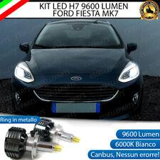 KIT LED H7 FORD FIESTA 7 6000K CANBUS 9600 LUMEN LED 360° SPECIFICO LENTICOLARE