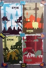 "2012 Star Wars Cel 6 Ewok Villiage 12""x18"" Poster Set of 4-FREE S&H(ITCPO-1213)"