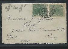French Guiana French Colony Cover (P2811B) 1920 Anteater 5Cx2 Small Cover To Fra