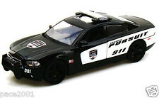2011 Black & White Dodge Charger Pursuit Police Car 1/24 Scale Diecast Model