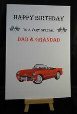 Personalizzato FATTO A MANO Da Uomo Auto cartolina di compleanno marito, papà, nonno, nonno, ZIO