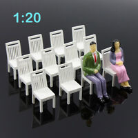 ZY17020 12pcs Model Train Railway Leisure Chair Settee Bench Scenery 1:20 Scale