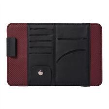 1x Car Sun Visor Glass Pen VD/DVD Card Case Storage Holder Clip Cover Bag New