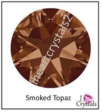 SMOKED TOPAZ Swarovski 30ss 6.5mm NEW 2058 Flatback Crystal Rhinestones 6 pieces