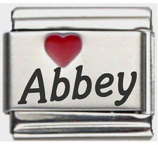 Clearly Charming Abby Laser Name Italian Charm Link