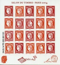 FRANCE  BLOC FEUILLET NEUF N° F4871 ** SALON DU TIMBRE 2014 / CERES / COTE 180 €