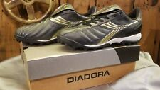 Diadora LX LT TF Turf Soccer Shoe Men's Size 7.5 Black & Gold 148476 SHIPS FREE!