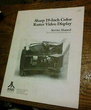 Atari SHARP 19-INCH COLOR RASTER VIDEO DISPLAY Service Manual - used original