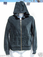 Three Hearts Women's Zippered Front Dark Green Ribbed Hoodie Size Small NWT