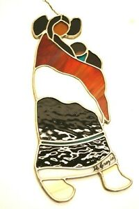 SG#16, Stained Glass Suncatcher, Ted DeGrazia, Toney, Woman With Baby,  1980's