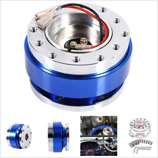 Blue Quick Release HUB Racing Adapter Snap Off Boss For In-Car Steering Wheel