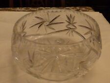 Very Large Beautiful Stuart Crystal Glass Footed Bowl