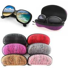 Portable Zipper Eye Sunglasses Glasses Box Cases Clam Shell Protector Hard Pouch