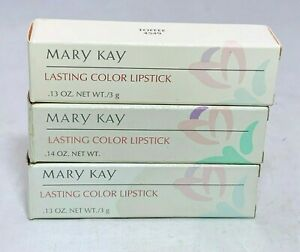 New Mary Kay Lasting Color Lipstick Discontinued .13 Oz ~ Choose Your Shade