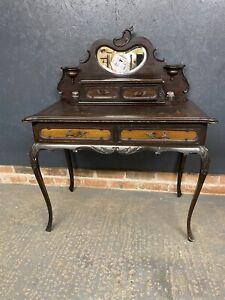 Antique Vintage Style Writing Desk Ladies Desk And Inkwells