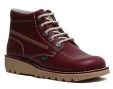 Kickers Kick HI Core Mens Leather Casual Ankle Boots In Dark Red Size UK 6 - 12