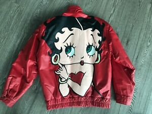 BETTY BOOP Maziar leather vintage Bomber jacket BNWT L