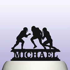 Personalised Acrylic American Football Players Cake Topper Decoration