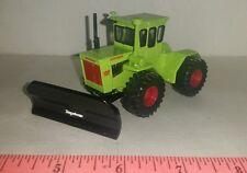 1/64 ERTL custom case ih turbo tiger steiger 4wd tractor & silage blade farm toy