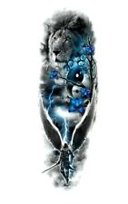 ANGELO GUERRIERO E LEONE impermeabile tatuaggio temporaneo adesivo * UK Venditore */- m99 -/