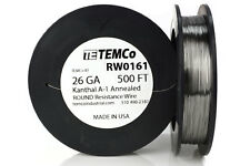 TEMCo Kanthal A1 wire 26 Gauge 500 Ft Resistance AWG A-1 ga
