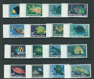 VIRGIN ISLANDS 1975 FISH long set (Scott 284-99 short 300) VF MNH