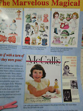 18pg BETSY McCALL Paper & Doll History Article - w/ Tonner Paper Doll